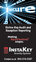Online key audit and exception reporting. Making KeyControl simple. InstaKey Security Systems. Contact us at: 800-316-5397