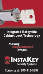 Integrated Rekeyable Cabinet Lock Technology. Making KeyControl Simple.  InstaKey Security Systems.