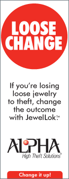 Loose Change. If you're losing loose jewelry to theft, change the outcome with JewelLok. Alpha High Theft Solutions. Change it up!