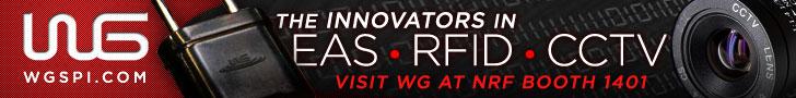 The Innovators in EAS-RFID-CCTV. Visit WG at NRF Booth 1401 - WG