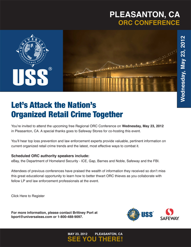 Click here to register for USS' Regional ORC Conference Weds., May 23, 2012