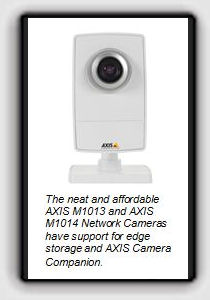 The neat and affordable AXIS M1013 and AXIS M1014 Network Cameras have support for edge storage and AXIS Camera Companion.