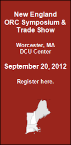 New England ORC Symposium & Trade Show - September 20, 2012 Worcester, MA - DCU Center