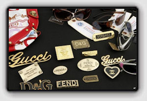 Picture: A file photo of counterfeit designer products seized in a raid by federal officials