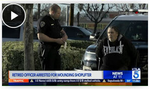 157d22128b9 The incident began when a man tried to leave the store without paying for  merchandise