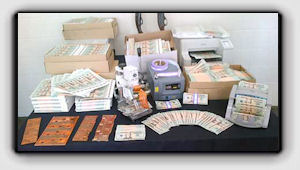 Picture: Police have seized nearly $1 million in phony U.S. bills from two Quebec towns.